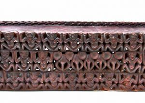 African Hand Carved Wood Bamileke Bed 1
