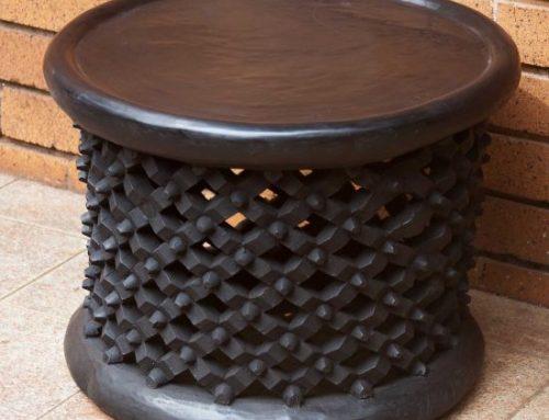 Wood Hand-Carved Bamileke