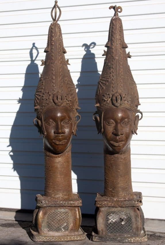 African Decor Bronze Sculptures