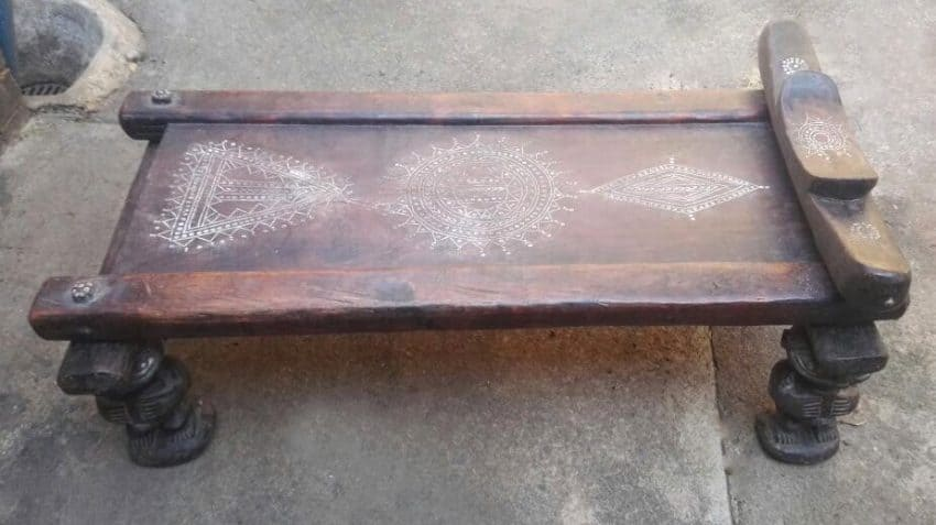 African Wood Carved Pygmy Beds 8