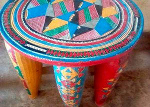 African Decor Nupe Stools