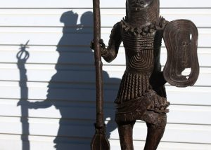 Antique Bronze Warrior Sculptures│Benin, Nigeria 1