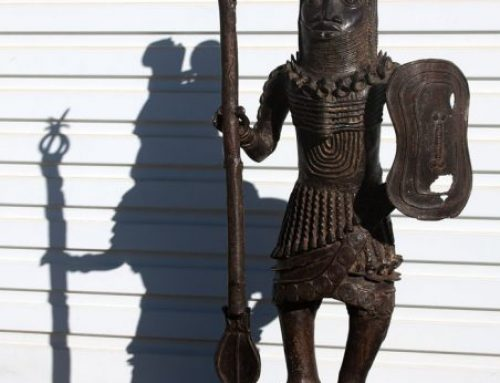 Antique Bronze Warrior Sculptures│Benin, Nigeria