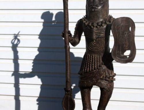 Antique Bronze Warrior Sculptures│Benin, Nigeria