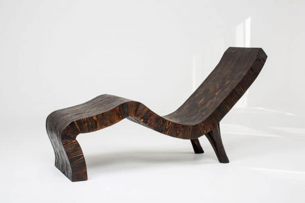 Contemporary Chaise, wood lounger, reclining seat, unique wood chair, wood chair