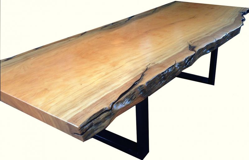 Natural Edged Wood Dining Room Table