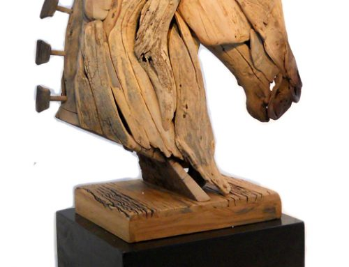 Sculptured Wooden Horse│Trojan Horse