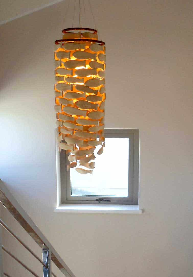 Wood Hand Carved Chandelier 7