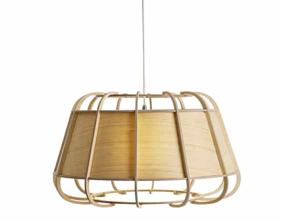 bamboo & wood hanging light
