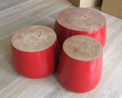 Turned Wood Side Tables│Stools 9