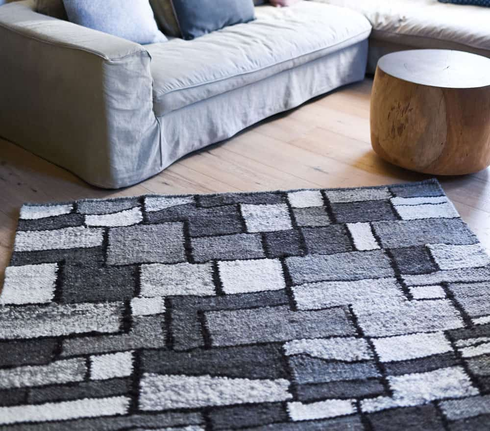 Wool area rug handmade phases africa african decor for Custom made area rugs