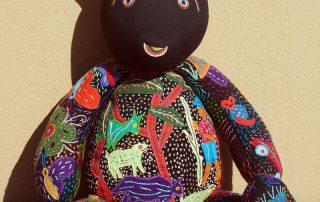 african decor, kids room decor,Black Face Teddy