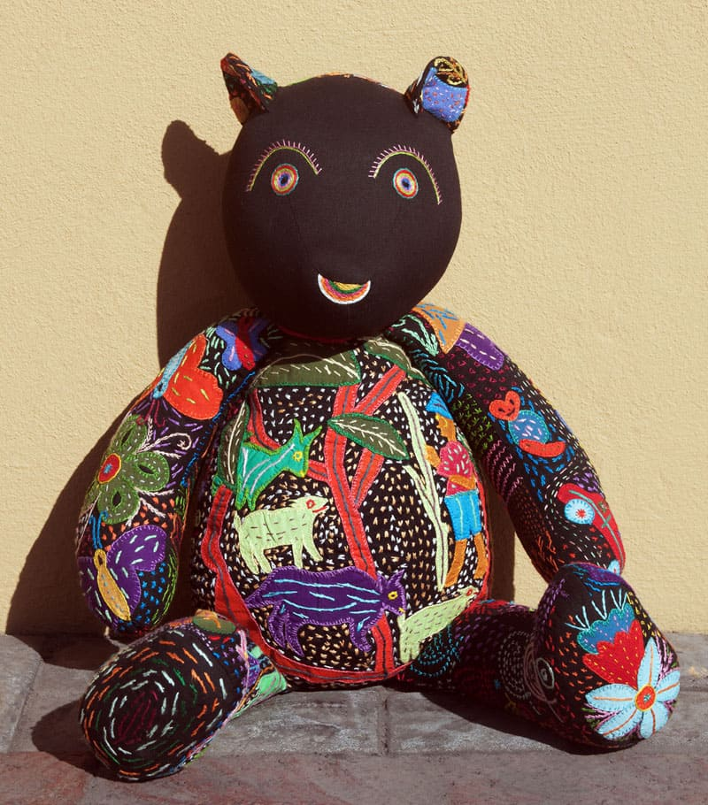 african decor, kids room decor,Black Face Teddy