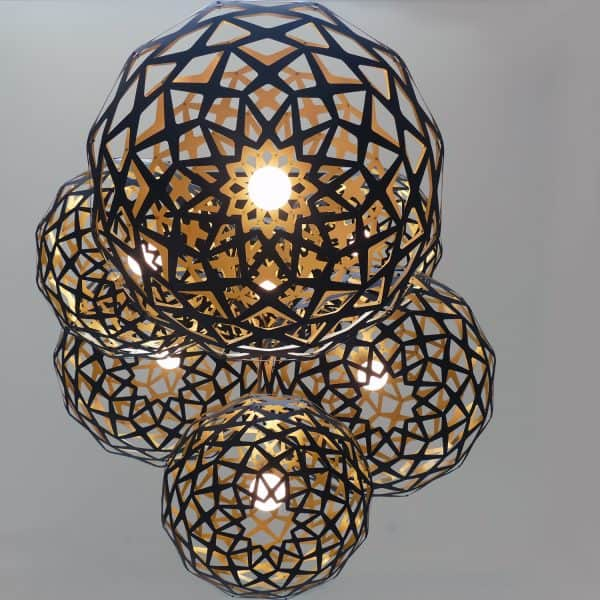 Contemporary Laser Cut Lighting Fixtures