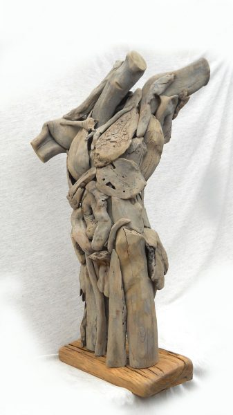 Wood Sculpture│male Figure Torso Phases Africa