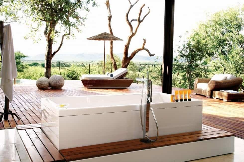 african luxury safari lodges, interiors of africa's luxury safari lodges, safari lodge interior ideas