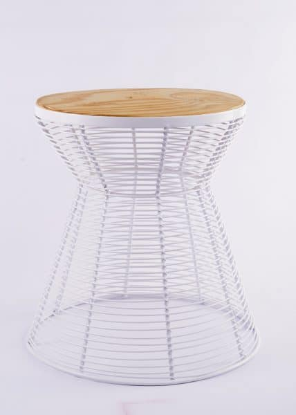 African Street Wire Furniture│Wood Top Seating 6