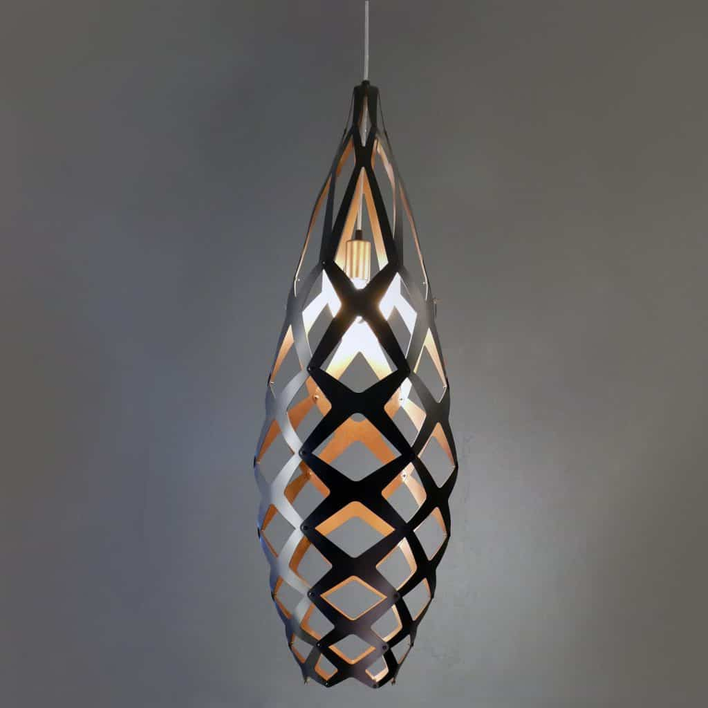 Aluminum Contemporary Laser Cut Lighting Fixtures 6