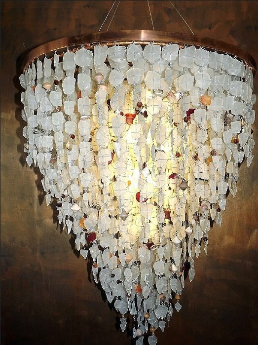 Lighting Fixtures│Recycled Glass Chandelier 6