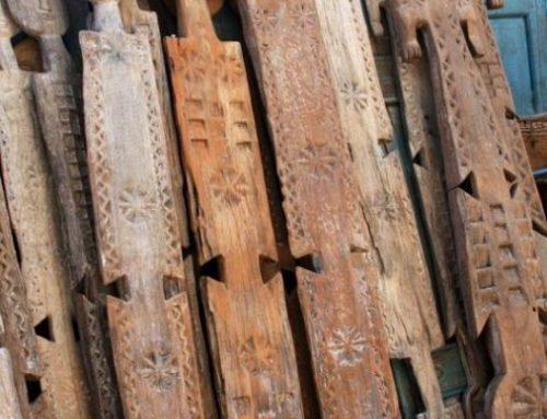 Kenyan Flat Wooden Masks│Wall Decor