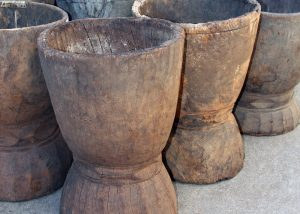 African Decor, Old African Grain Pots 1