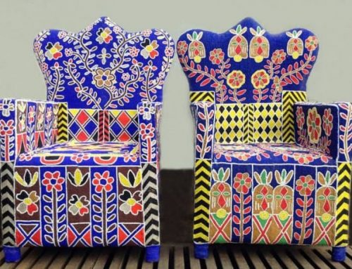 African Hand Beaded Royal Chairs