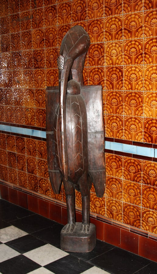 African Wood Carved Kalao Bird