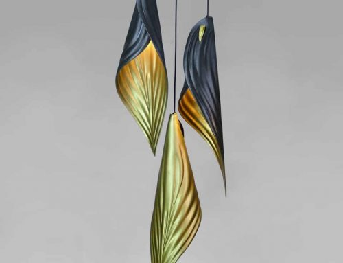 Unique Lighting│Leather Leaf Light Fixture