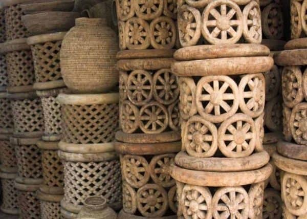 African Decor Bamileke side tables