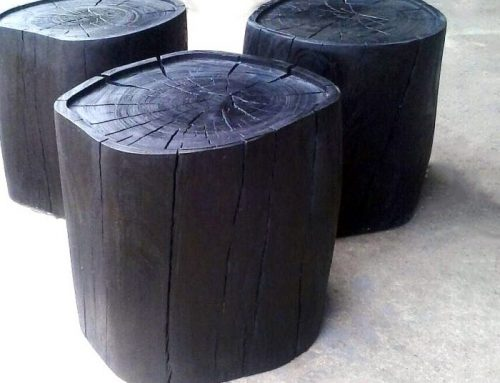 Wood-turnings, Side Tables│Burnt Finish