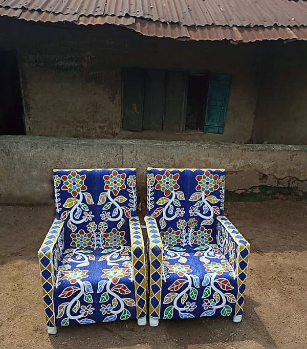 African Beaded Chairs & Decor 7