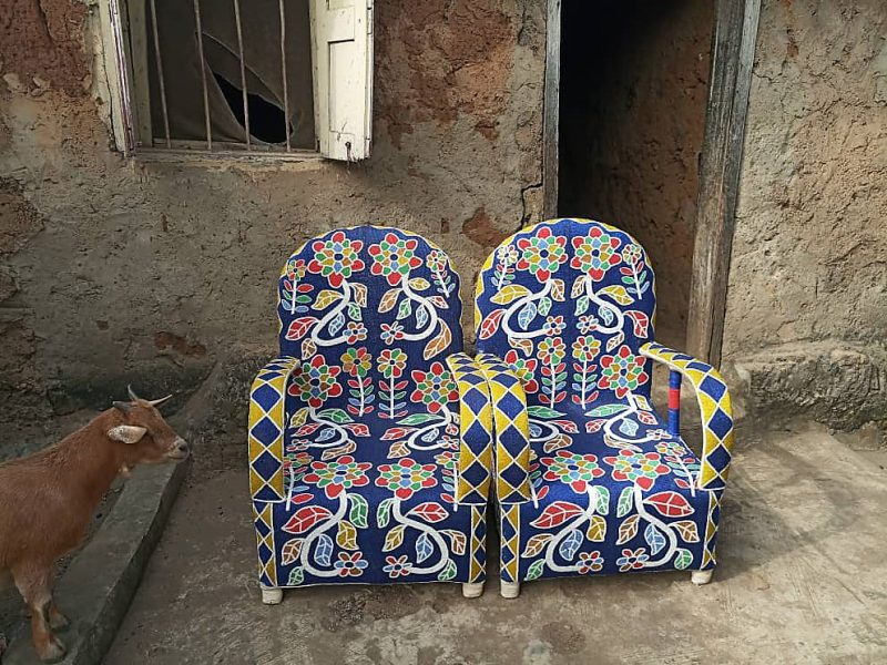 African Beaded Chairs & Decor 6