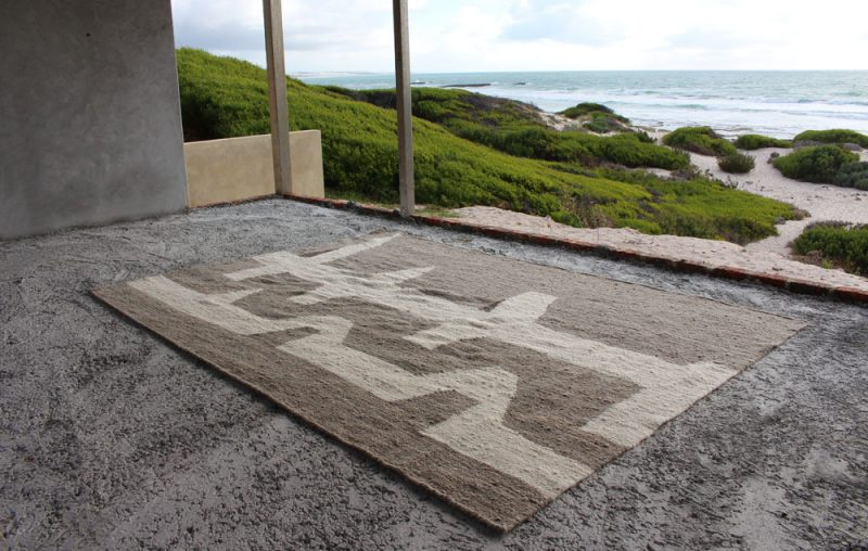 handwoven wool rug made in South Africa