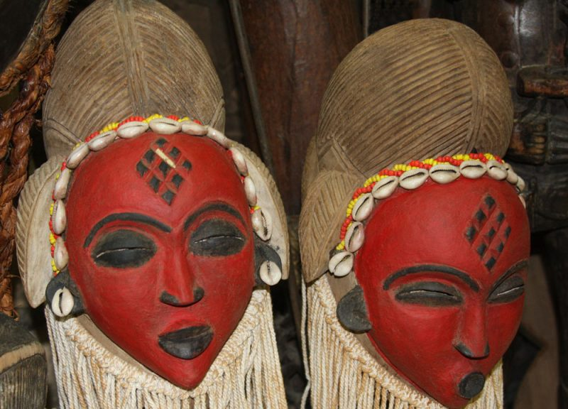 African Wall Art│Unique Masks 1