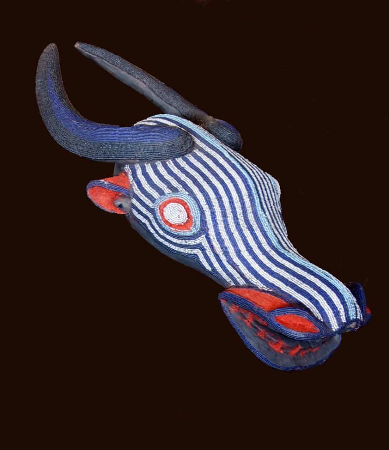 Cameroon Bamileke Bush Cow Beaded Mask