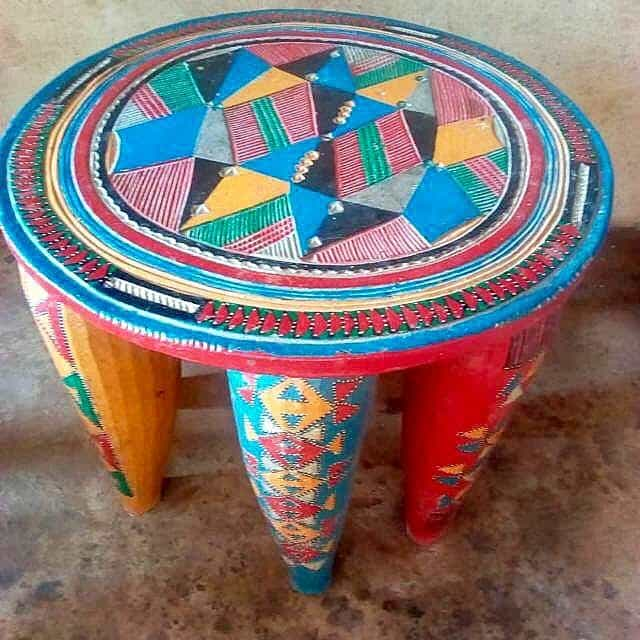 African Decor Nupi Stool Nigeria