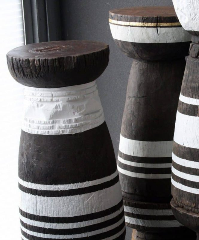 African Decor, Old African Grain Pots 7