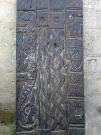 African Hand Carved Doors, Wood Panels 2