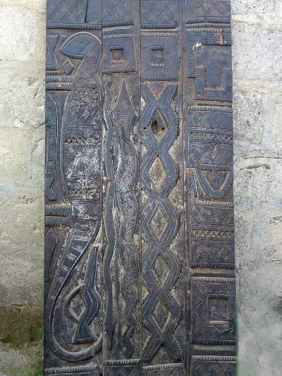 African Hand Carved Doors, Wood Panels 1