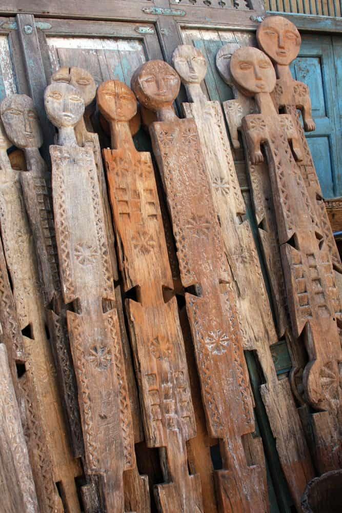 Kenyan Flat Wooden Masks│Wall Decor 6