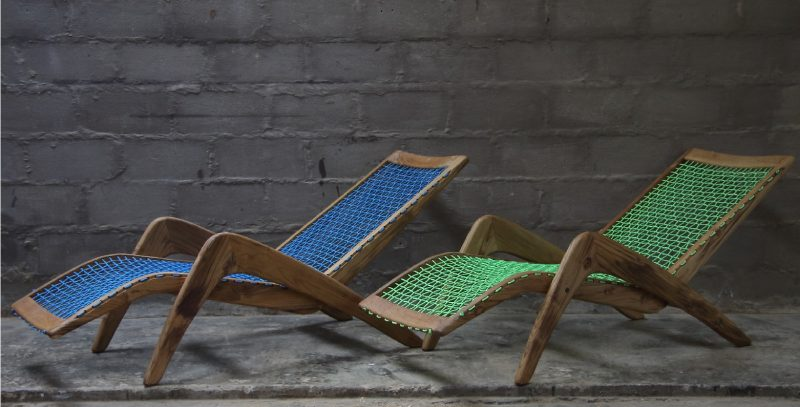 Loungers Indoor and Outdoor Plantation Teak - rope weaves