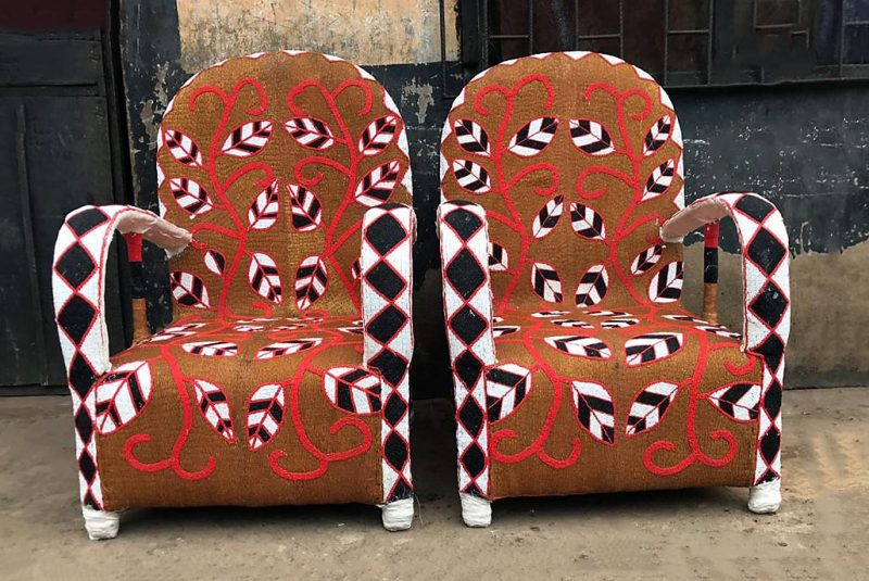 African Beaded Chairs & Decor 9