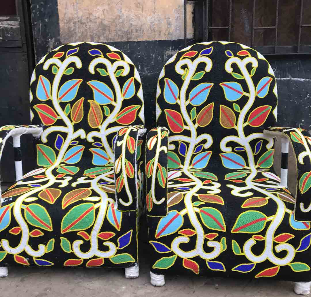 African Beaded Chairs