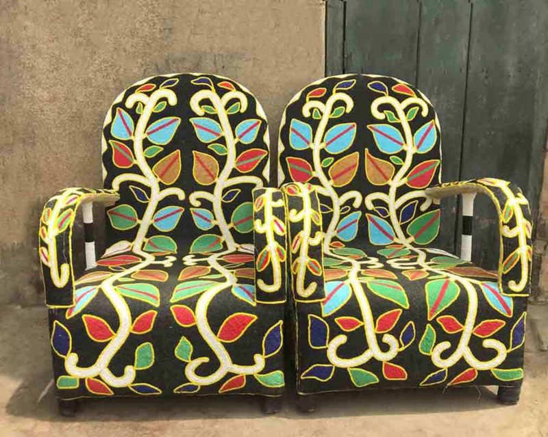 African Hand Beaded Royal Chairs 7