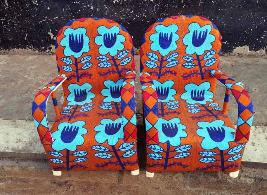 African Beaded Chairs & Decor 1