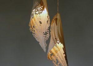 unique lighting, leather light