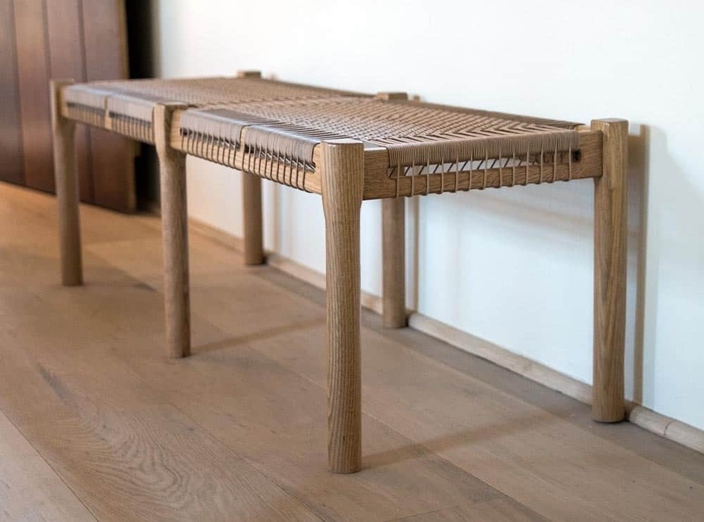 Contemporary Wooden Bench 14