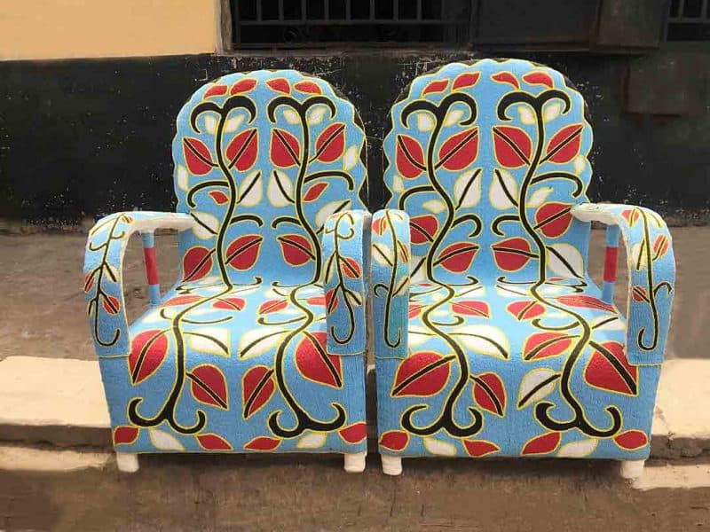 African Hand Beaded Royal Chairs 6