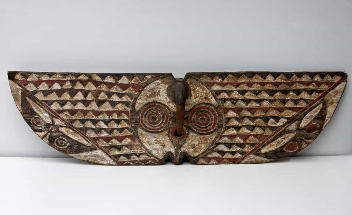 African Wall Decor│Wooden Plank Masks 2