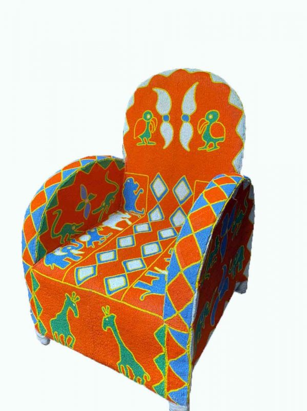 African Beaded Chairs & Decor 4